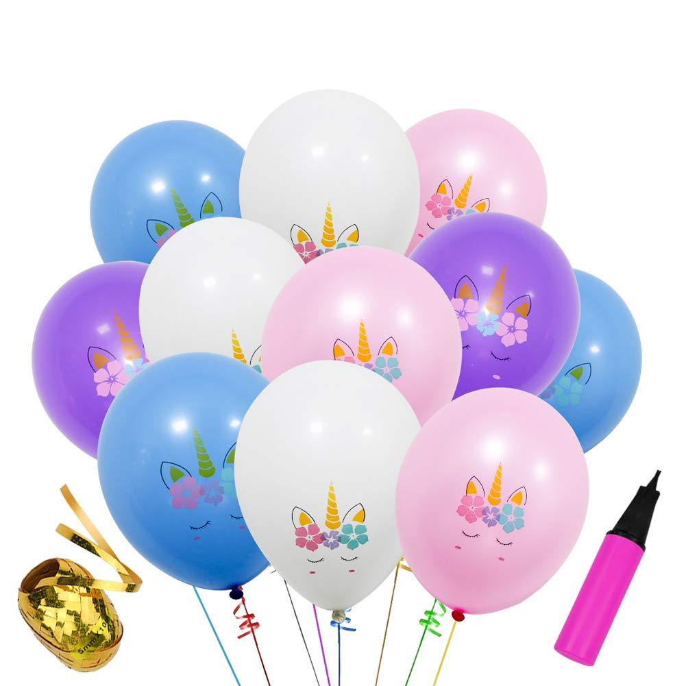 Amazon.com: 30 globos de fiesta de unicornio de 12.0 in para ...