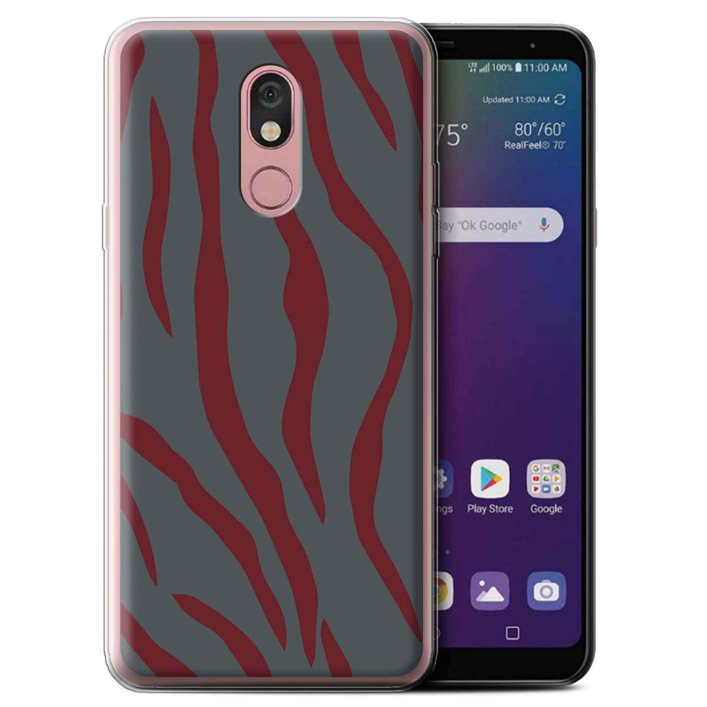 eSwish Gel TPU Phone Case/Cover for LG Stylo 5 / Red Tiger Gamer Design/Military Camo Camouflage Collection