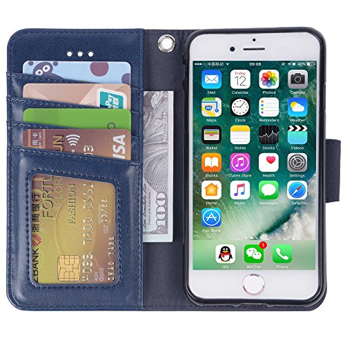 Arae Case for iPhone 7 / iPhone 8 / iPhone SE 2020, Premium PU leather wallet Case with Kickstand and Flip Cover for…