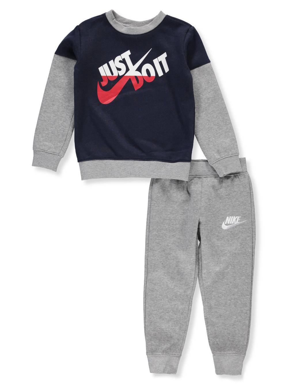 Nike Boys' 2-Piece Sweatsuit Pants Set - Dark Gray, 2t