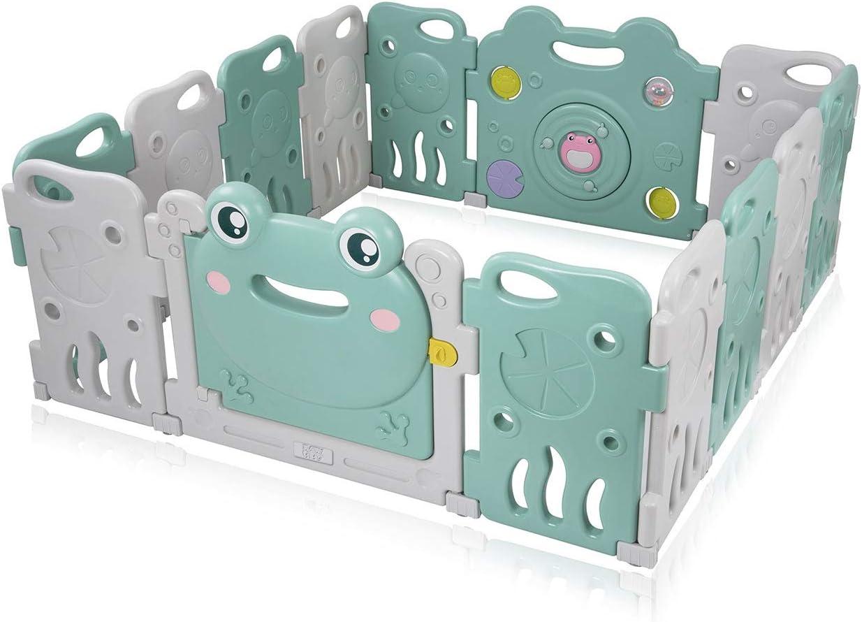 Baby Vivo Parque Corralito Plegable Puerta Robusto Plastico Bebe Barrera de Seguridad Jugar - Fridolin