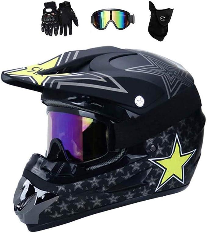 Film Couleur Cadre Noir ROSEBEAR Moto Masque de Motocross Lunettes de Protection Hors Route MX ATV Lunettes de V/élo de Salet/é Lunettes