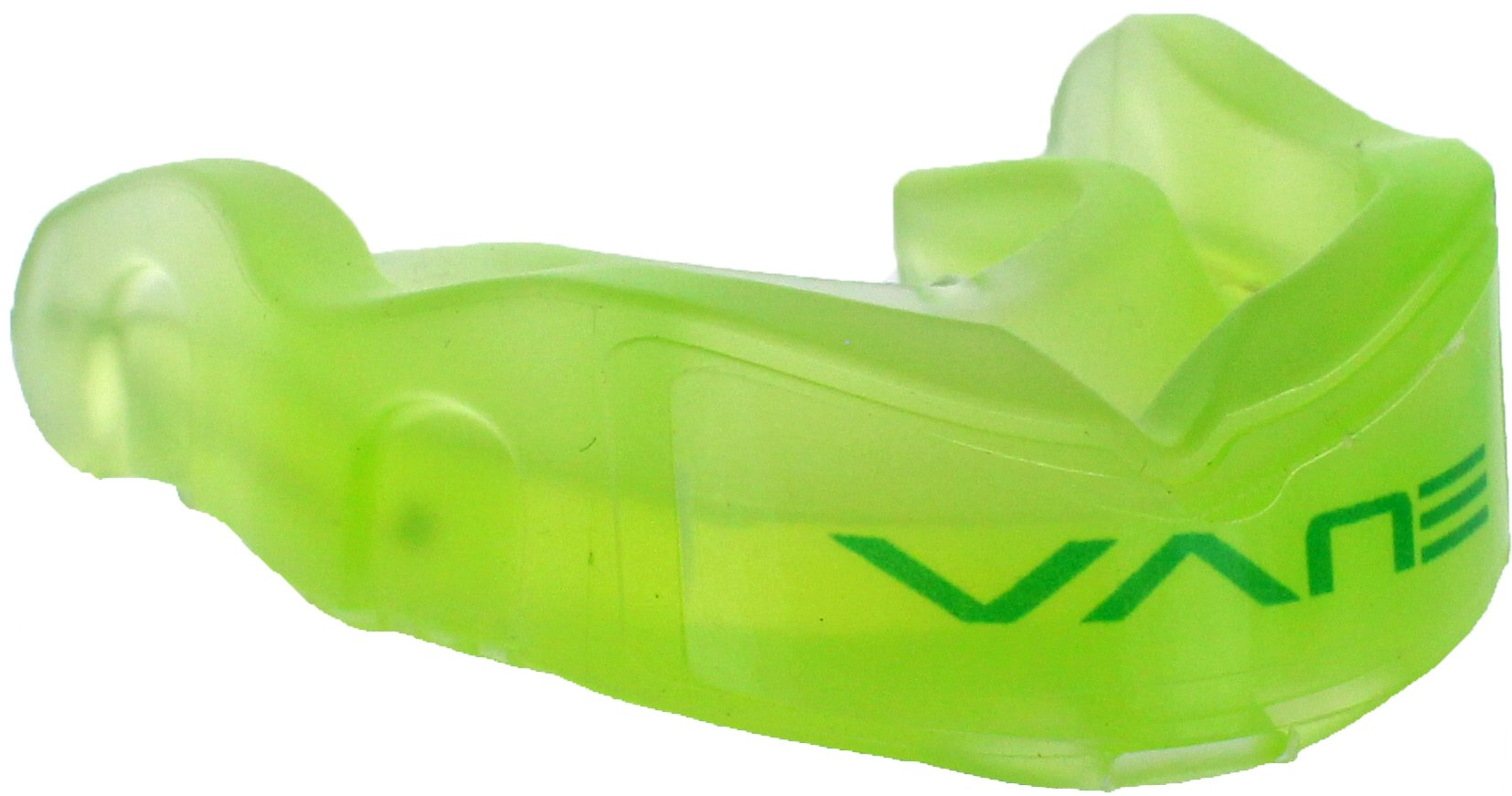 Vane Athletic Dental Grade Mouth Guard with G-Force Sensor Technology (Neon Green)