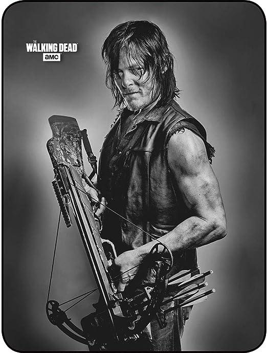 79 X 96 The Walking Dead Daryl Dixon Faux Mink Throw Queen Blanket