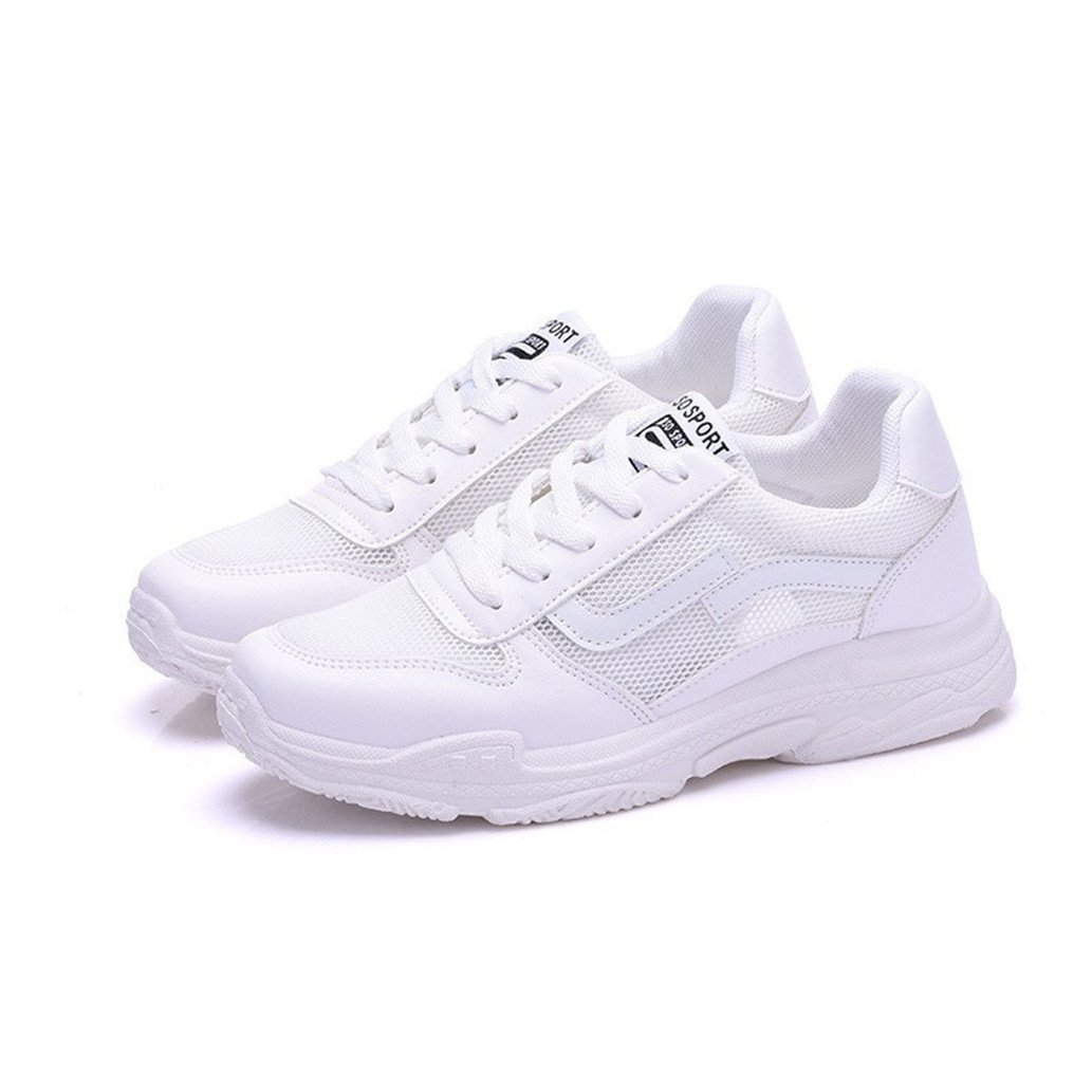 best website f2105 f9ed0 Btrada Women Air Mesh Wedge Sneakers High Heels Platform Shoes Sneaker  Casual Fashion Shoes Platform for Outdoor Work Out,White B07G47QWRK Parent  b47158