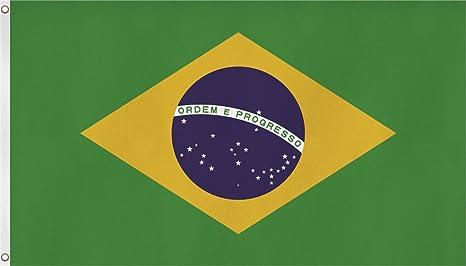 Bandera de cosido XXL 150 x 250 cm de Brasil y Estados Unidos ...
