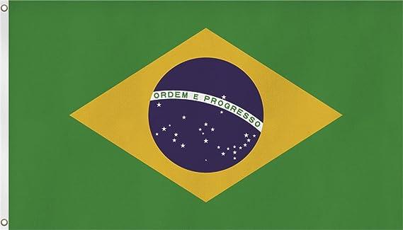 Bandera de cosido XXL 150 x 250 cm de Brasil y Estados Unidos Italia España Portugal Alemania etc., - Brasilien, 150 x 250 cm: Amazon.es: Deportes y aire libre