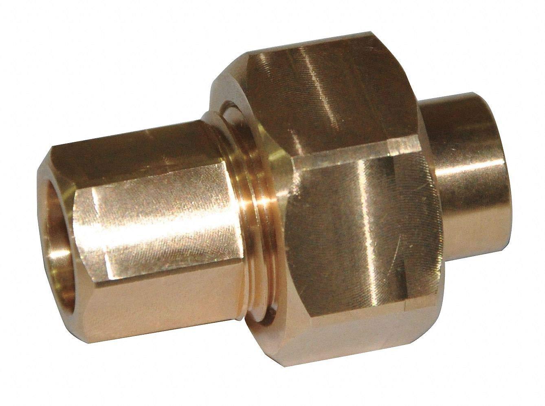 Union, Cast Copper, C x C, 1/4'' Tube Size pack of 5