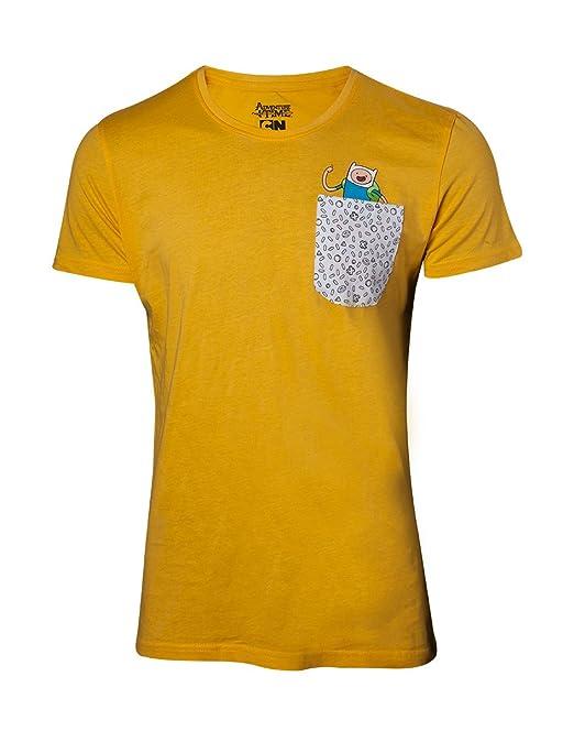 Hora de Aventuras Jake & Finn Camiseta Amarillo L