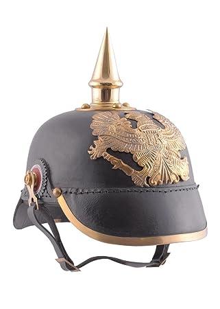 Axe – Campana de Prusia ßischen Infantería 1889 de piel Deko Casco schaukampftauglich Ritter Casco LARP