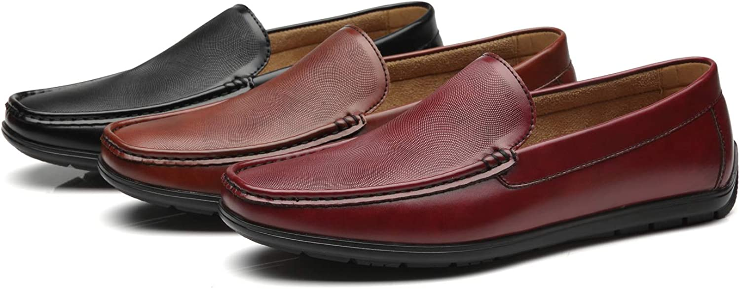 Faranzi Mens Driving Moccasins Penny Slip On Loafers Classic Comfortable Casual Driving Shoes Boat Shoes for Men Cobbler 3 Burgundy