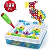 LBLA Juguetes Montessori Puzzles 3D Tablero de Mosaicos Infantiles Juegos Educativos Regalos para Niños de 3 4 5 Años…