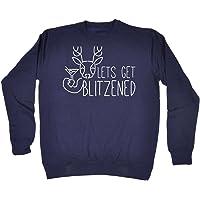 123t Funny Lets Get Blitzened - Sweatshirt