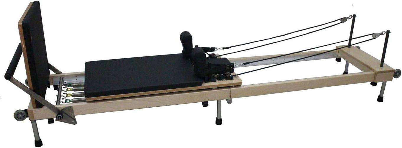 Byron Bay Pilates Co. Pilates Reformer Plegable con Barra de Pies y Jump Board (Tabla de Saltos) Garantía de por Vida en la Madera