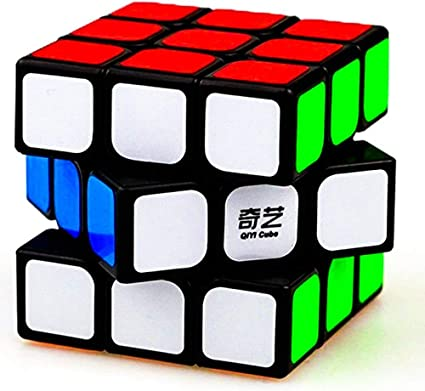 Hinik Corporation 3x3 Black Enhanced Edition High Speed Rubiks Rubic Cube 3D Puzzle,Multicolor