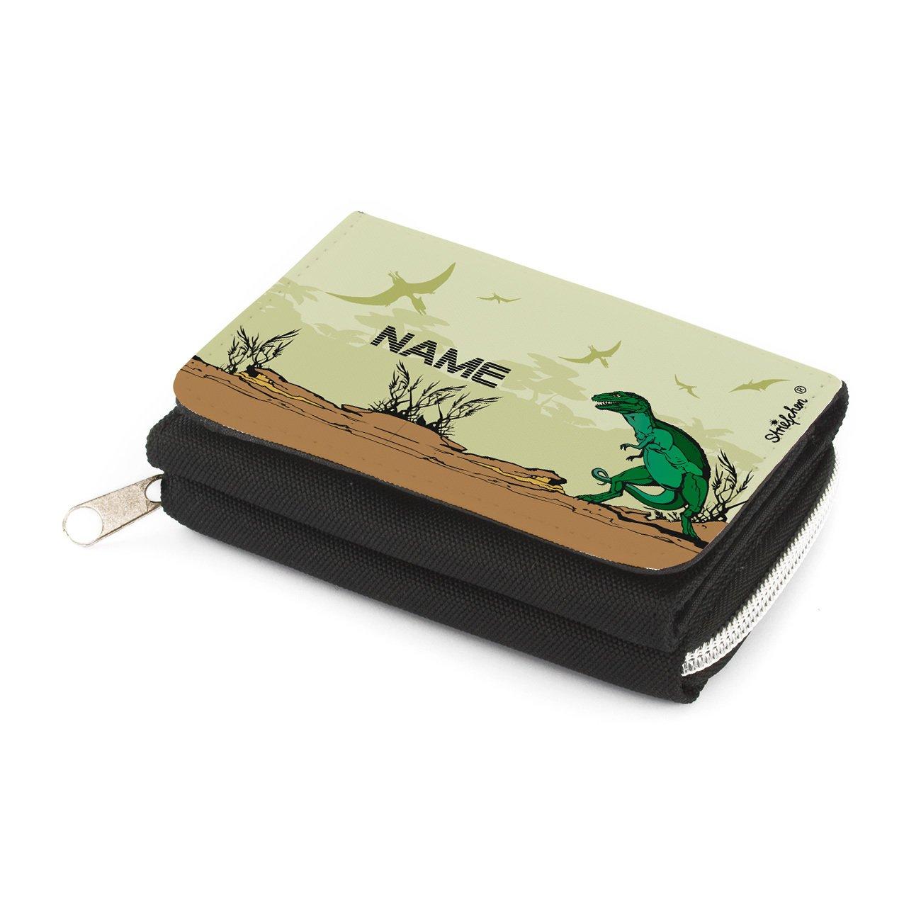 Striefchen Dino Portemonnaie für Kinder - Gratis Namensaufdruck mit Geschenkverpackung Striefchen®