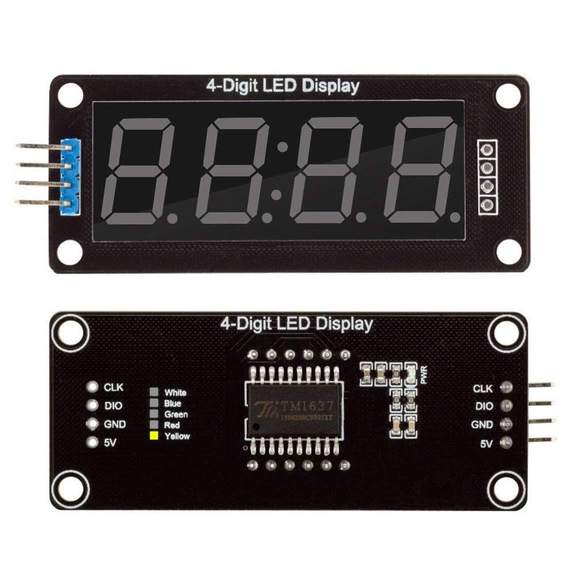 LED Anzeige reloj digital de 4 bits .56Inch TM1637 tubo de presentación para Arduino: Amazon.es: Oficina y papelería