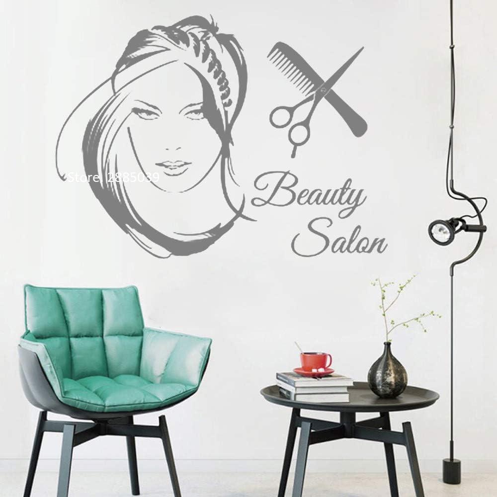 Ajcwhml Nuevo salón de Belleza Logo Chica Vinilo decoración del ...