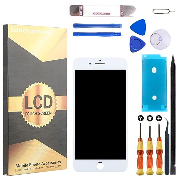best service 73371 e6471 for iPhone 8 Screen Replacement LCD Display Touch Digitize Assembly with  Front Camera Plastic Holder Earpiece Anti-Dust Mesh and Repair Tool Kit  White ...