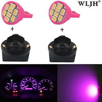 Wljh 6 Pack Pink T10 168 194 Led Instrument Panel Dash Light Bulb