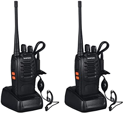 AGPtek 2 Pack Rechargeable Walkie Talkie 3W 16CH Two-Way Radio
