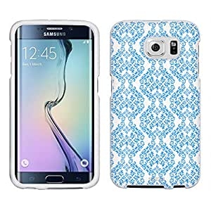 Samsung Galaxy S6 Case, Snap On Cover by Trek Victorian Stunning Blue on White Case