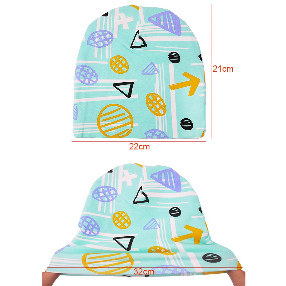 iZiv 2 Pack Cute Baby Hats Scarfs Infant Soft Cotton Hat and Scarf Set Black Pink Fashion Style Spring Autumn for 0-2 Years