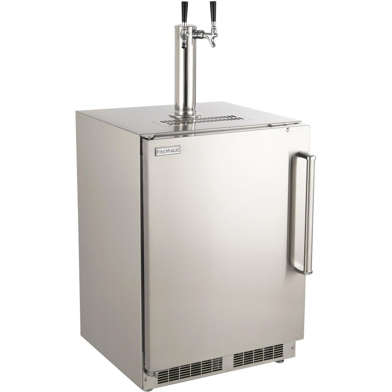 Fire Magic 24-inch Left Hinge Outdoor Rated Dual Tap Kegerator - 3594-dl