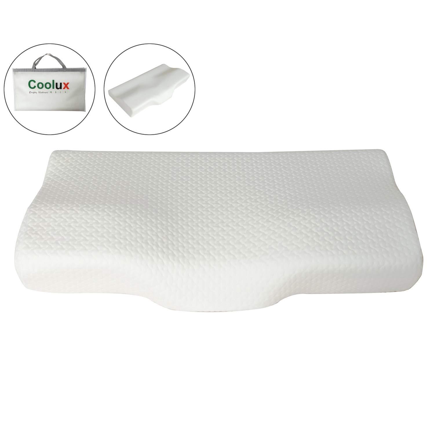 Sleep Support Pillow for Back/Side Sleepers, Cervical Pillow for Neck Pain Relief, Comfortable Feeling