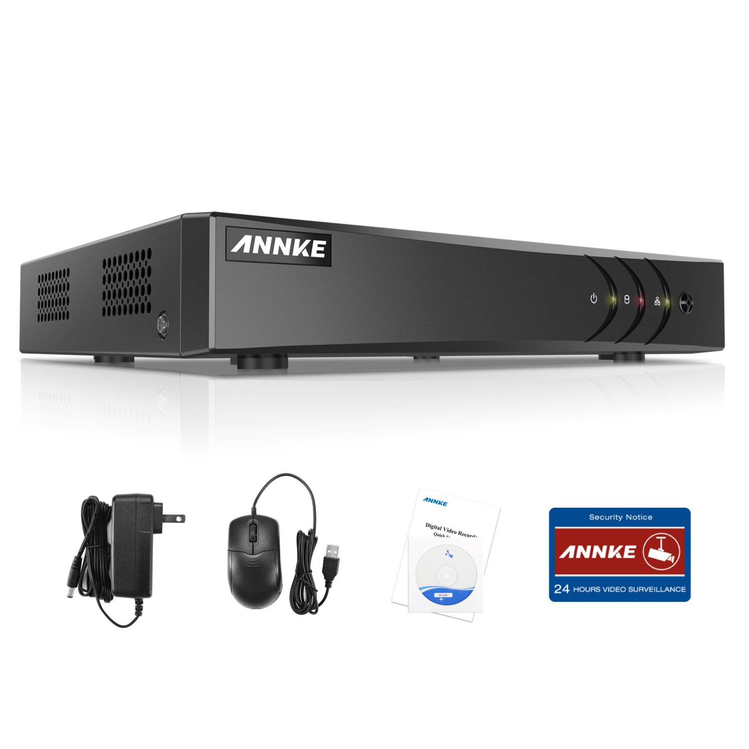 ANNKE H.264+ 16CH HD TVI DVR 1080N CCTV Network Mobile Motion Detection Standalone HDMI Home Surveillance Security System Real Time,NO Hard Drive Included