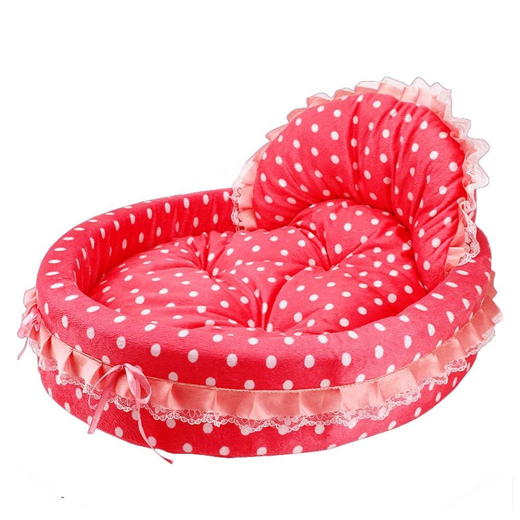 RED 537010cm RED 537010cm MIAOLIDP Pet supplies less than 30 kg dog kennel pet nest cat nest cotton nest small medium dog kennel cat nest Pet supplies (color   RED, Size   53  70  10cm)