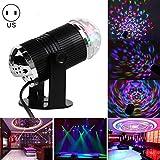 Happyi 3W LED DJ Light RGB Rotating Sound Activited Auto Magic Mini Disco Ball Stage Lights for Party KTV Show Xmas Wedding Show Club Pub Disco DJ