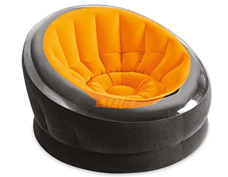 Beau Intex Inflatable Sunny Orange Empire Chair 68582EP