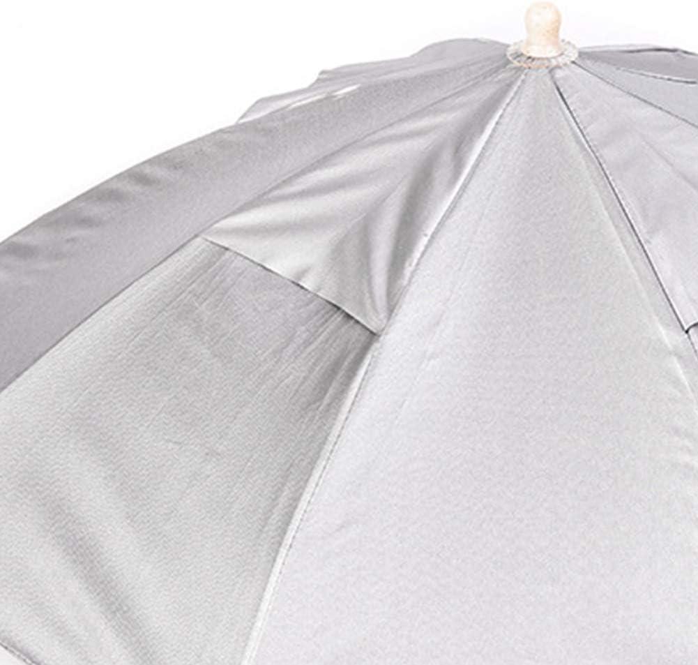 P/êche Accessoires Chapeau Parapluie T/ête Parapluie Adulte P/êche Chapeau Parapluie Pliable Portable pour Voyage Randonn/ée P/êche Plage Argent P/êche Cadeau pour Les Hommes