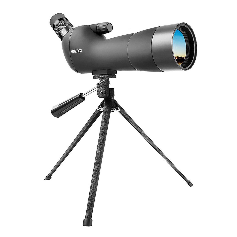 ENKEEO Waterproof Spotting Scope 20-60X60AE with Tripod Review, 45-Degree Angled Eyepiece, Optics Zoom 41-21m (134-69ft) / 1000m - Black