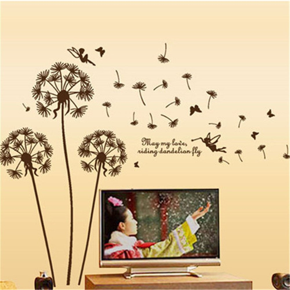 Amazon.com: GTNINE Flying Dandelion Vinyl Wall Decals Modern Wall ...