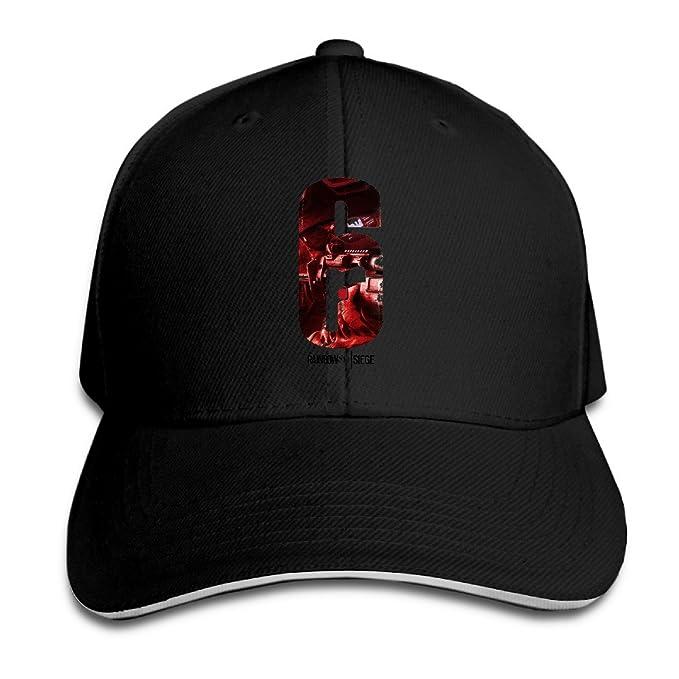 8698127a7758d Rainbow Six Siege Shooter Video Game Trucker Caps Style Sandwich Cap Hats