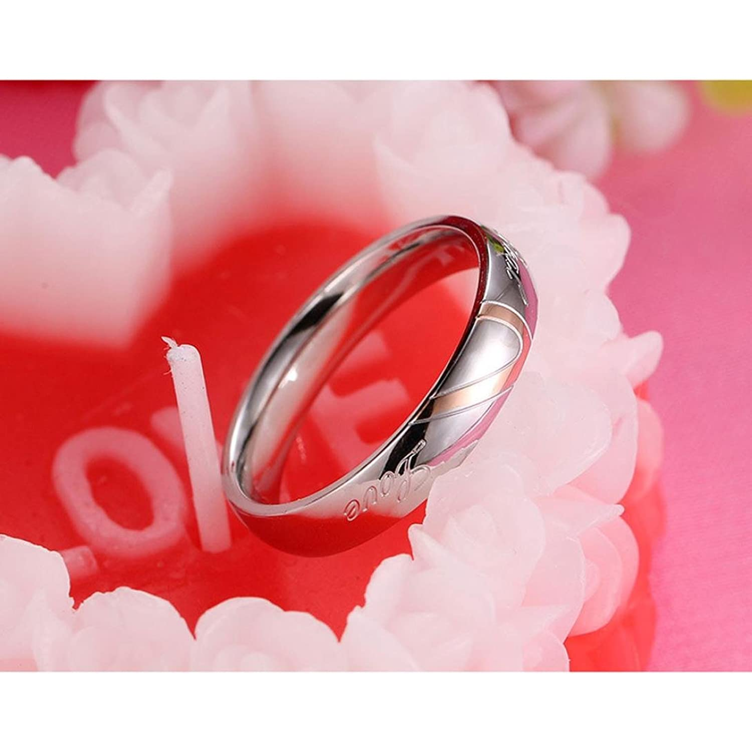 Amazon.com: Ulifeshop New Arrival,Love Heart Ring,Letter Legend ...