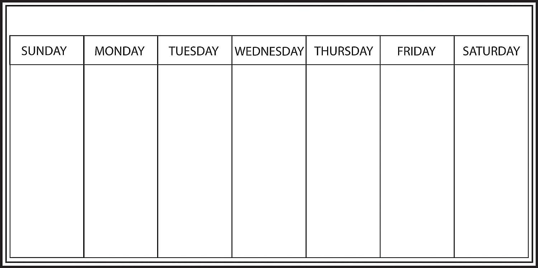 Wallpops Fine Dé cor - Agenda settimanale autoadesiva da parete, della gamma, 33 x 66 cm, colore: Bianco Fine Décor WPE98895