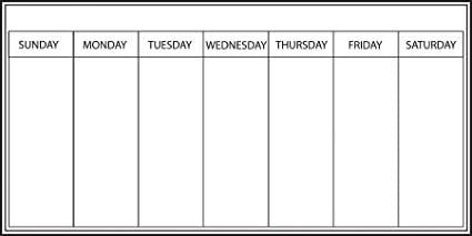 Wallpops 33 X 66 Cm Self Adhesive Weekly Planner White Amazon Co