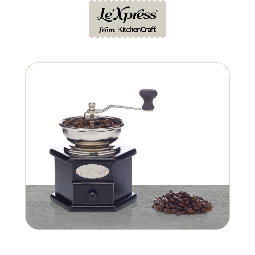 KitchenCraft KCLXGRIND5 - Molinillo de café, color negro y ...