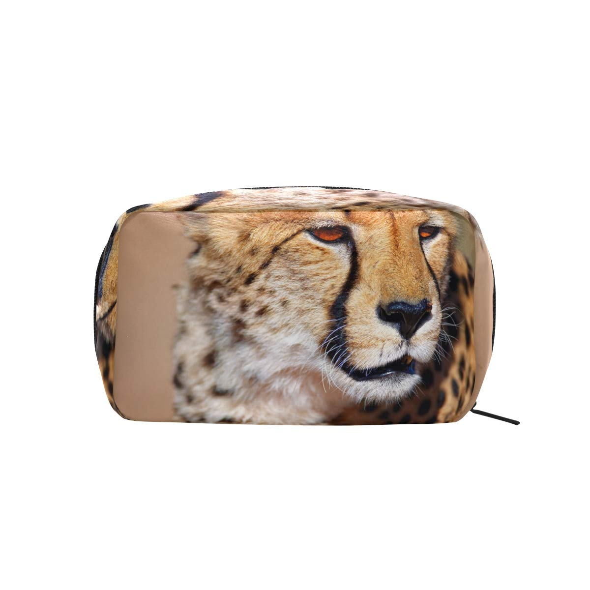 Leopard Pattern Print Makeup Case Cosmetic Bag