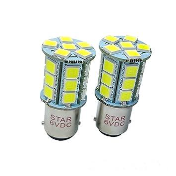 2-Pack BA15D S25 1158 Super Helli necesidad 24SMD 5050 LED bombillas Repuesto Auto &