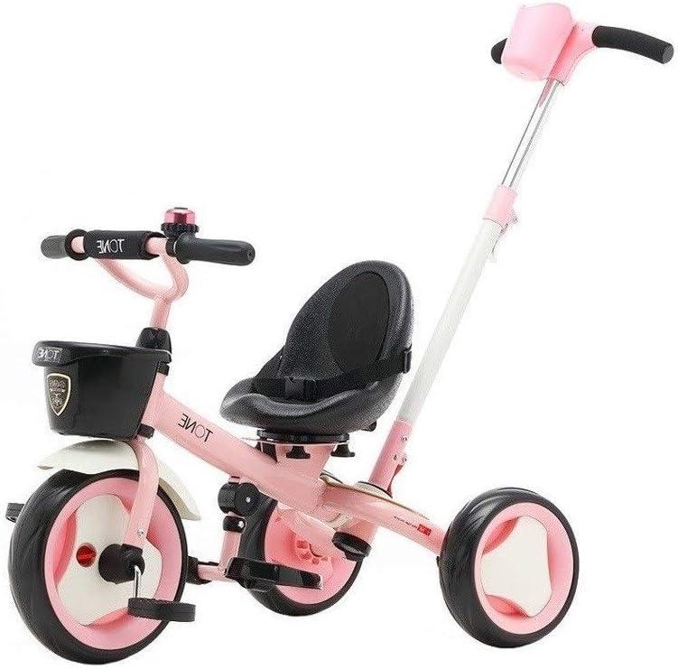 WLD Bicicleta de entrenamiento Triciclo Triciclos para niños Bicicleta de equilibrio Triciclo de transporte para bebés Juguetes portátiles para montar Juguetes de pasajeros salientes Regalo de cumple