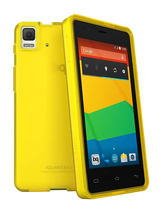BQ Gummie - Funda Aquaris E4.5, amarillo