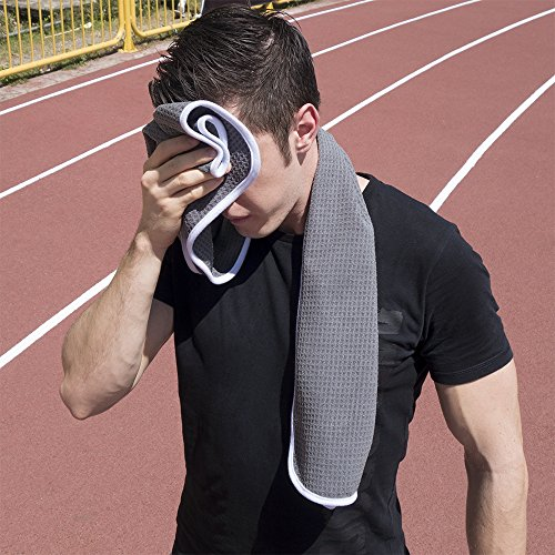 Fitness Gym Towel for Workout, Sports and Exercise – Soft, Lightweight, Quick-drying, Odor-free 61YDYG5HYRL