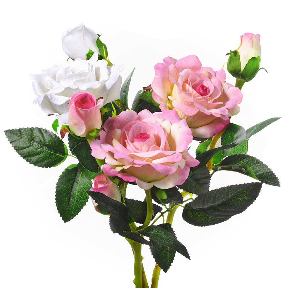 Amazon.com: Artificial Flowers, Fake Flowers Silk 9 Heads Roses ...