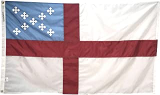 product image for 3x5' Episcopal Flag, Sewn and Embroidered All Weather Nylon for Outdoor, Made in USA