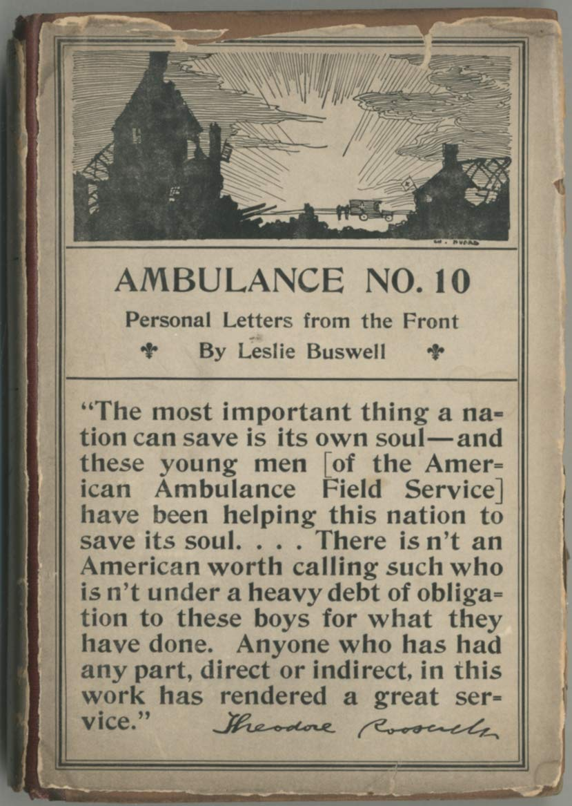 Ambulance No 10 Personal Letters From The Front Leslie