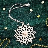 PERSONALIZED SNOWFLAKE ORNAMENT // Christmas Tree Decoration - Custom Christmas Gift - Engraved Christmas Ornaments - Snowflake Decorations